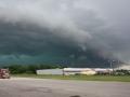 green skies hail
